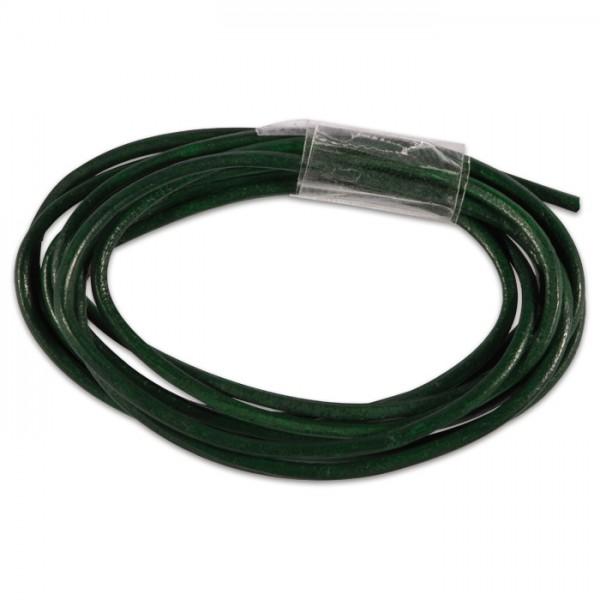 Ziegenlederriemchen rund 1,5mm 1m dunkelgrün
