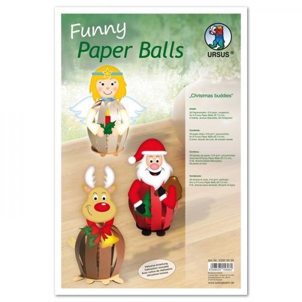 Paperballs Ø 10cm 60 Str./6 Balls Christmas Buddys