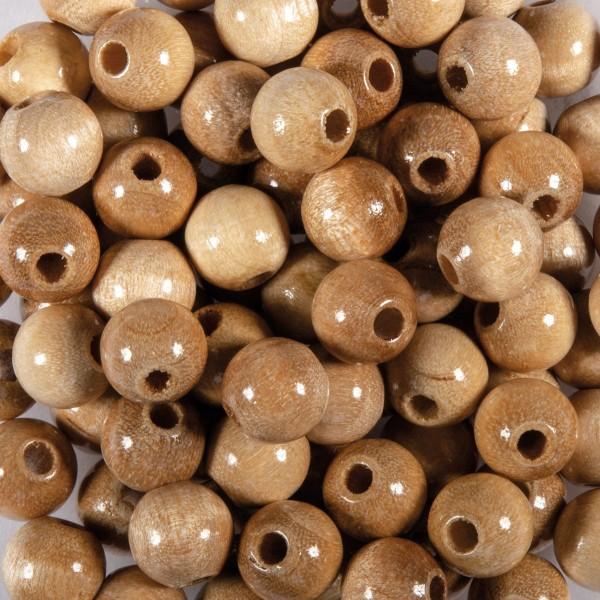 Holzperlen 12mm 30 St. natur hell Lochgröße ca. 3mm
