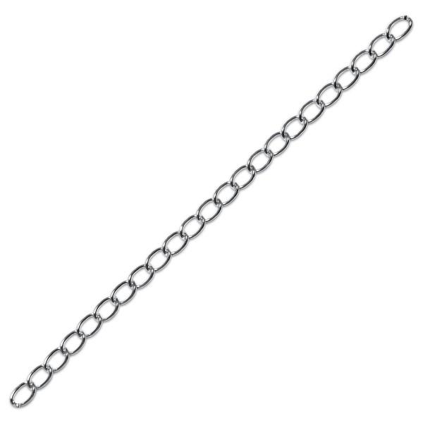 Kette Aluminium 16mm breit silberfarben