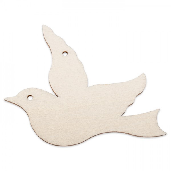 Holzmotiv Vogel 3mm stark ca. 6cm natur