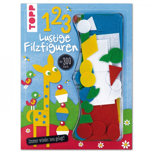 Buch - Lustige Filzfiguren 123 24 Seiten, 21,5x28cm, Softcover