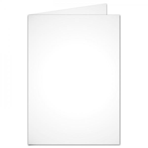 Brief- & Bastelkarten DIN A6 100 St. weiß doppelt hoch 190g/m², ohne Kuverts