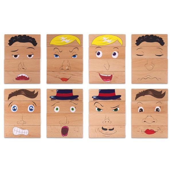 Spiel - Emotionsbausteine Holz 4 St. Bausteine 135x45x45mm, ab 1 Jahr