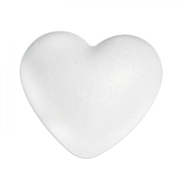 Styropor-Herz gewölbt voll weiß 12cm