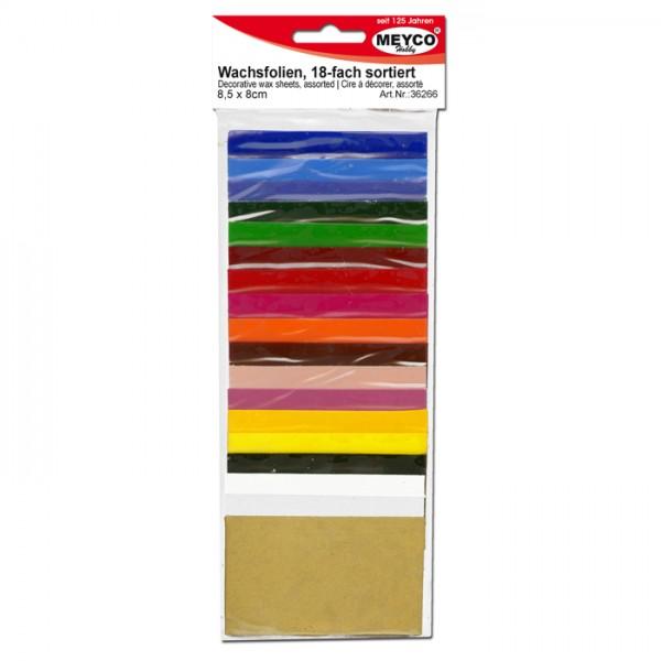 Verzierwachs 85x50x0,5mm 18 St./Farben bunt