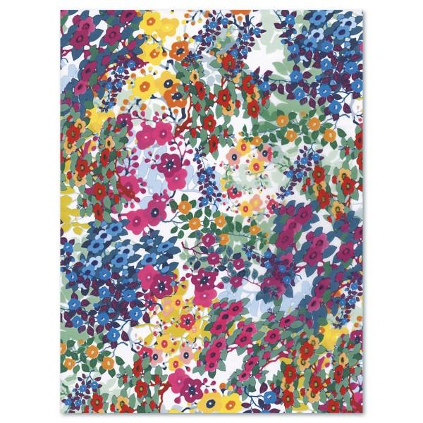Decoupagepapier Blumen pink/blau/grün von Décopatch, 30x40cm, 20g/m²