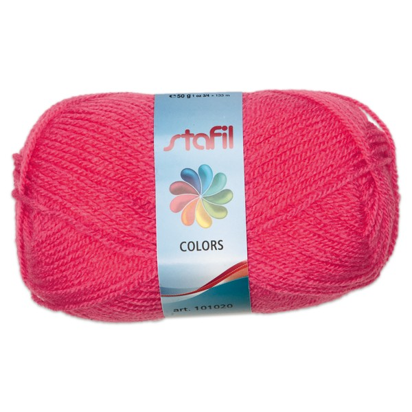 Wolle Colors 50g kirschrot LL ca.133m, Nadel Nr. 3, 100% Polyacryl