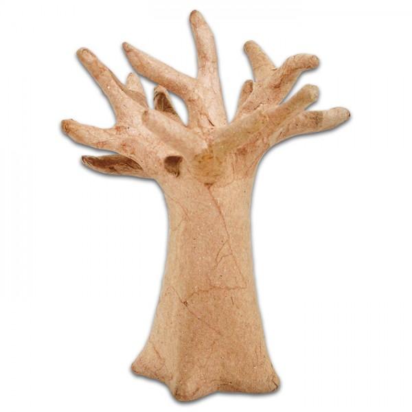 Baobab Baum Pappmaché 13,5x10cm natur Größe XS, von Décopatch