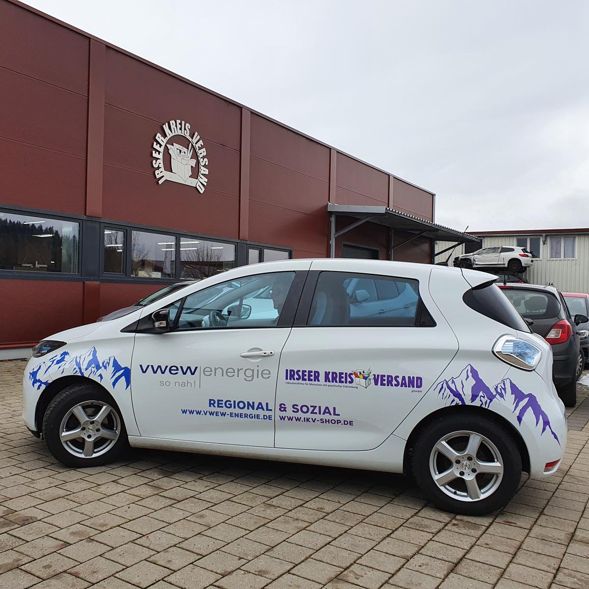 Unser neues E-Auto von VWEW-energie