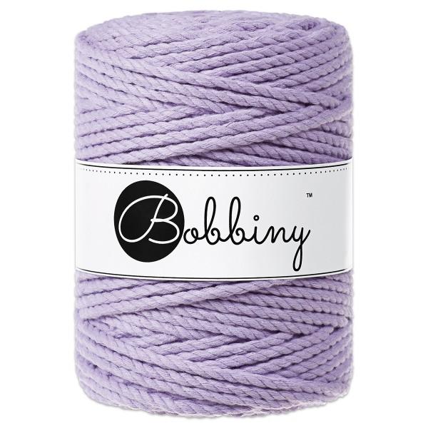 Bobbiny 3PLY Makramee-Kordel Ø5mm lavender ca. 700g-800g, 100% Baumwolle, LL 100m, 3x60 Fasern