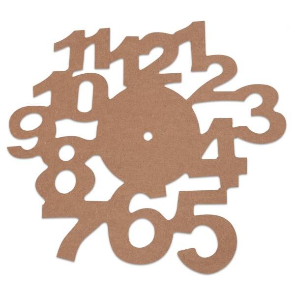 Ziffernblatt MDF 3mm Ø 30cm