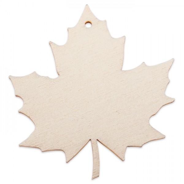 Holzmotiv Ahornblatt 3mm stark ca. 6cm natur