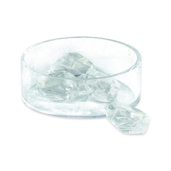 Glasschliffperlen ca. 16x13mm 10 St. kristall AB Regenbogeneffekt, Lochgr. ca. 1mm