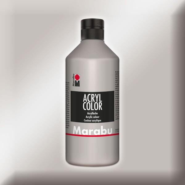 Marabu Acryl Color 500ml silberfarben