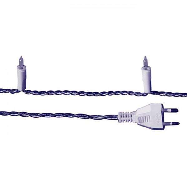 Lichterkette ohne Schalter 6m 20 Lämpchen weiß rundumlaufend, für Innenbeleuchtung