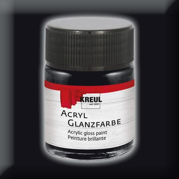 KREUL Acryl-Glanzfarbe 50ml schwarz