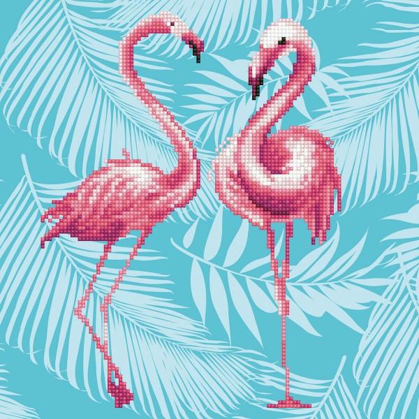 Diamond Dotz 32x32cm Flamingo Duo