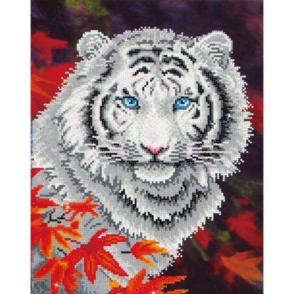 Diamond Dotz 35,5x45,72cm White Tiger in Autumn