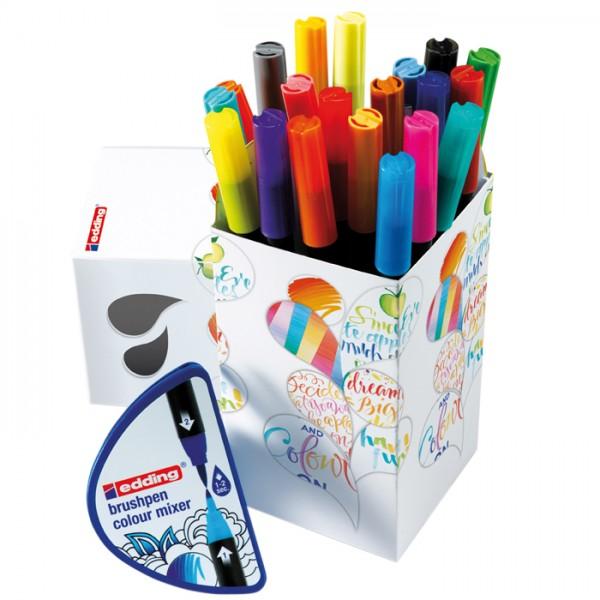 Colour Happy Box 20 St. edding Brushpen 1340 Fasermaler/Pinselmaler