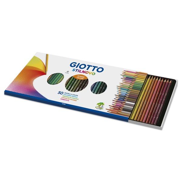 Giotto Stilnovo Mine 3,3mm 50 Farbstifte inkl. 4 Neonfarben, gold, silber & Spitzer
