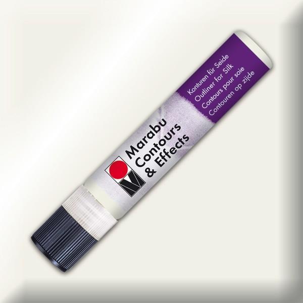 Contours & Effects 25ml metallic-weiß Konturenfarbe für Seide