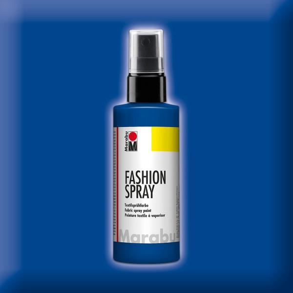 Marabu Fashion-Spray 100ml marineblau Textilsprühfarbe für helle Stoffe