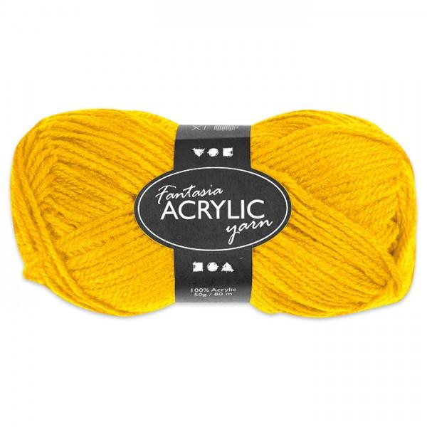 Fantasia Acryl-Wolle 50g gelb 100% Polyacryl, für Nadel Nr. 4