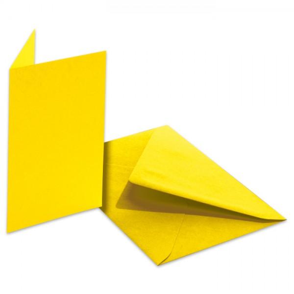 Doppelkarten 220g/m² 10,5x15cm 5 St. bananengelb inkl. Kuvert&Einlegeblatt