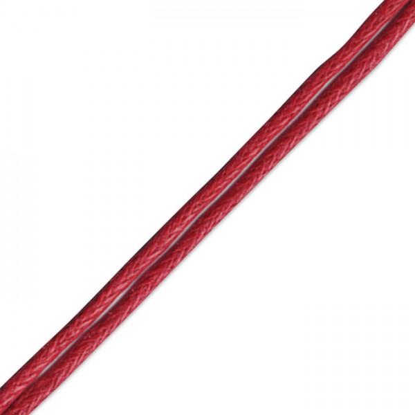 Kordel gewachst 1mm 10m hellrot 50% Baumwolle, 50% Polyester