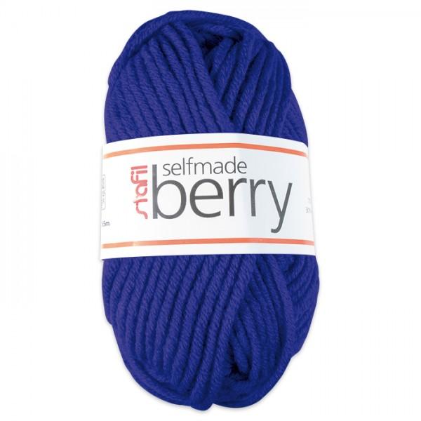 Wolle Berry 6-7mm 50g royalblau 70% Polyacryl, 30% Wolle