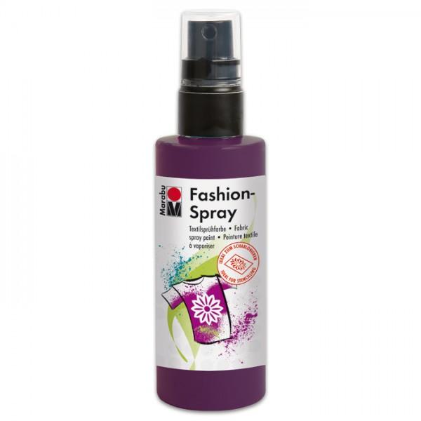 Marabu Fashion-Spray 100ml aubergine Textilsprühfarbe für helle Stoffe