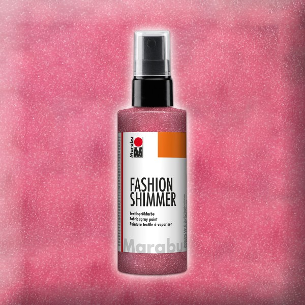 Marabu Fashion-Shimmer 100ml rot Textilsprühfarbe