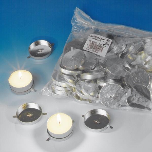 Teelichthalter für Laternen Blech Ø4cm 50 St.