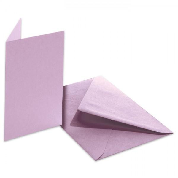 Doppelkarten 220g/m² 10,5x15cm 5 St. lila inkl. Kuvert&Einlegeblatt