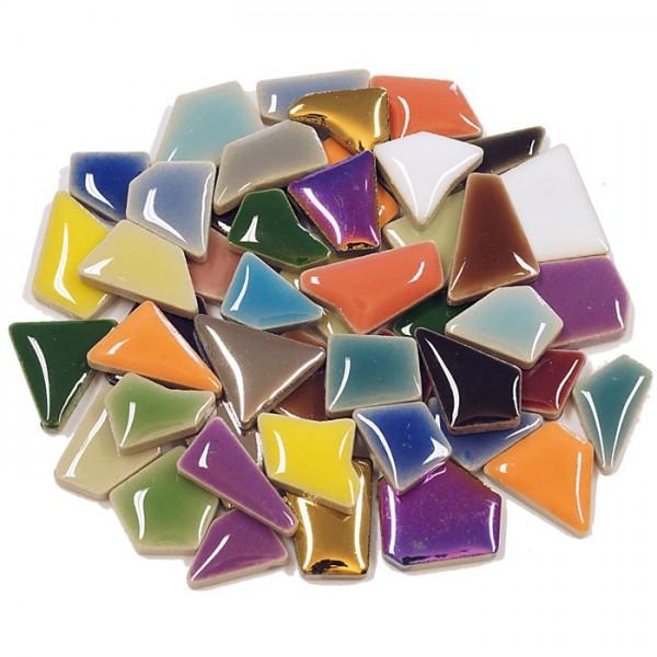 Flip-Keramik Mini 500g ca. 400 Steine bunt mix 5-20mm, ca. 4mm