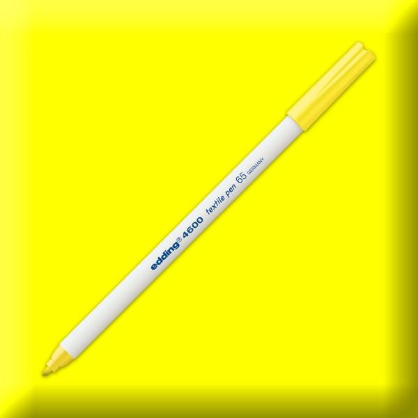 edding 4600 Textilstift neongelb Strichbreite 1mm