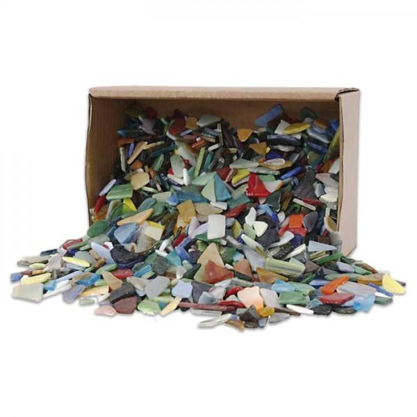 Glasmosaik Bruchstücke 8-20mm 2kg Buntmix 2-3mm stark