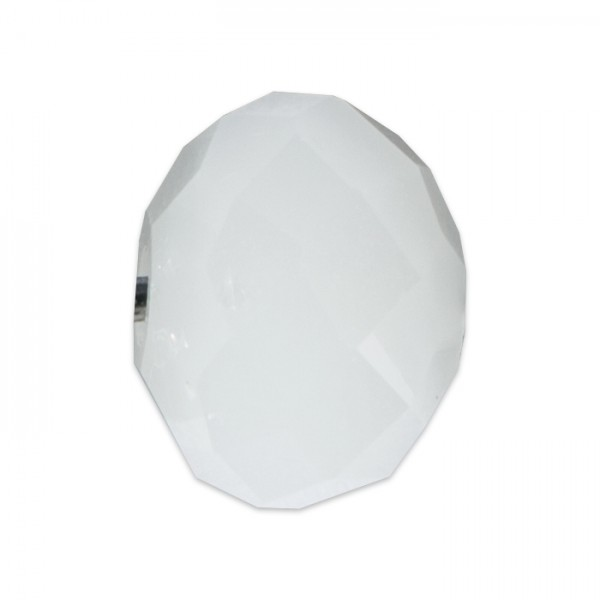 Facettenschliffperlen 8mm 20 St. weiß pastellfarben, feuerpoliert, Glas, Lochgr. ca. 1mm