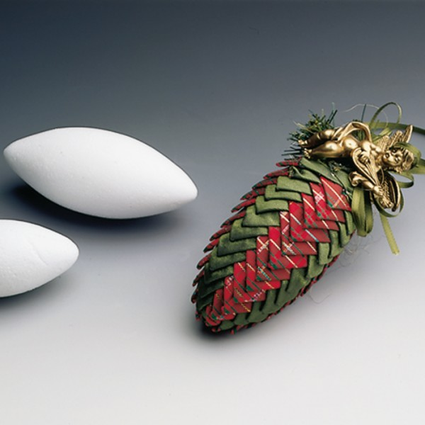 Styropor-Zapfen weiß 10cm