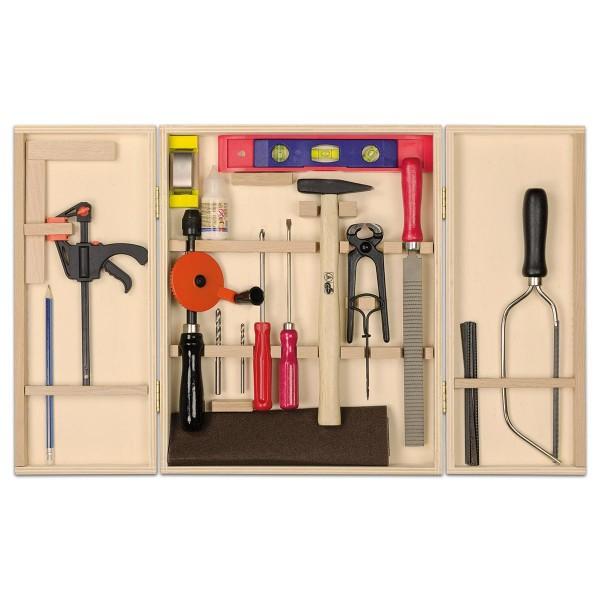 Profi-Werkzeugschrank 21 Teile im Holzkoffer