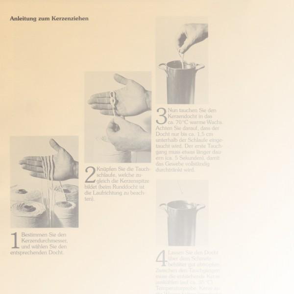 Anleitung zum Kerzengießen 42x29,7cm Spezialpapier (reiß- und wasserfest)