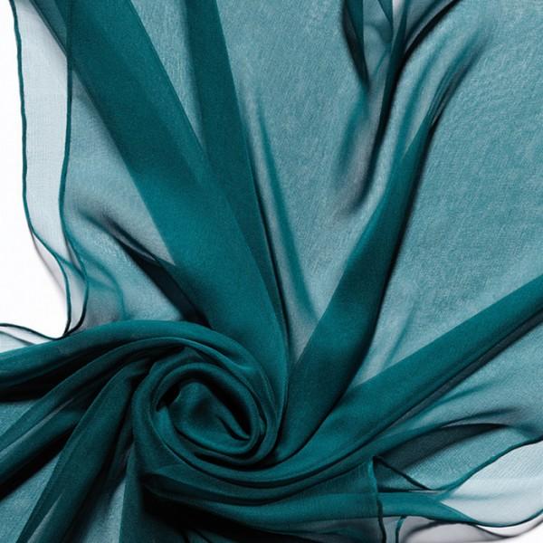 Schal Chiffon 3,5 55x180cm jaspis 100% Seide