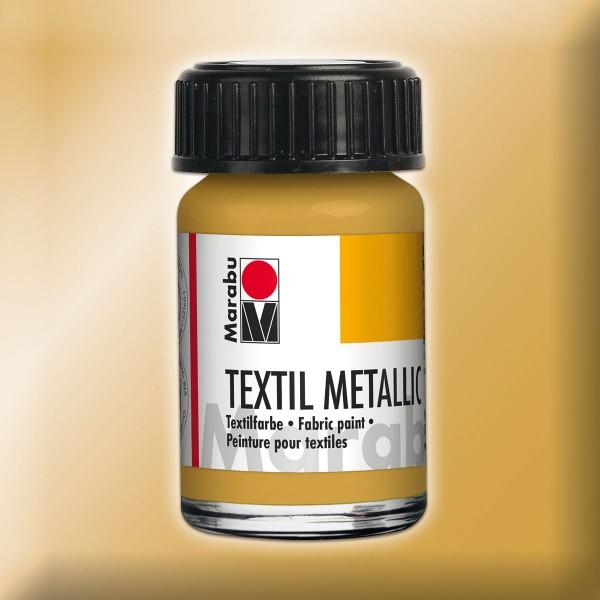 Marabu Textil Metallic 15ml goldfarben