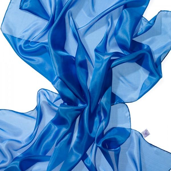 Nickituch Seide Pongé 05 55x55cm brilliantblau 100% Seide