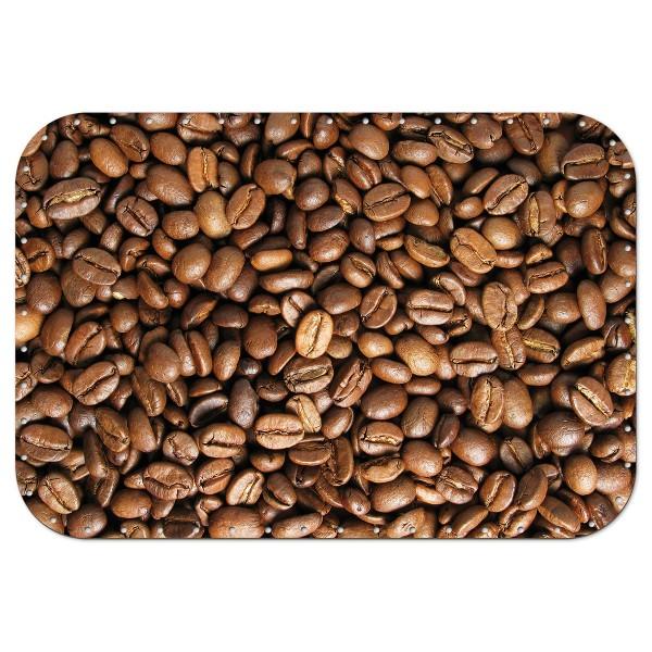 Korbflechtboden HDF 3mm Ø ca. 35x24cm Rechteck Kaffeebohnen 53 Bohrungen 3mm, beidseitig lackiert