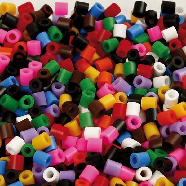 Nabbi Bügelperlen medium 20.000 St. Standard-Farben 5x5mm, Kunststoff, Lochgr. ca. 2,5mm