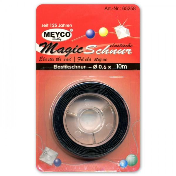 Magic Schnur elastisch rund 0,6mm 10m schwarz