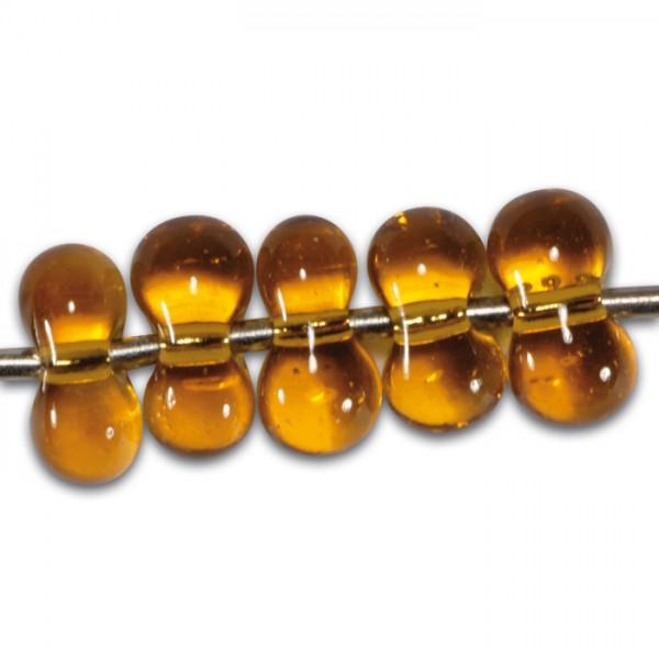 Farfalle transp. Silbereinzug 6,5mm 17g rauchtopas Glas, Lochgr. ca. 1mm