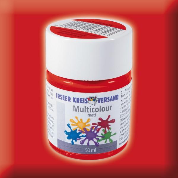 Acryl-Mattfarbe 50ml mittelrot Multicolour Acryllack